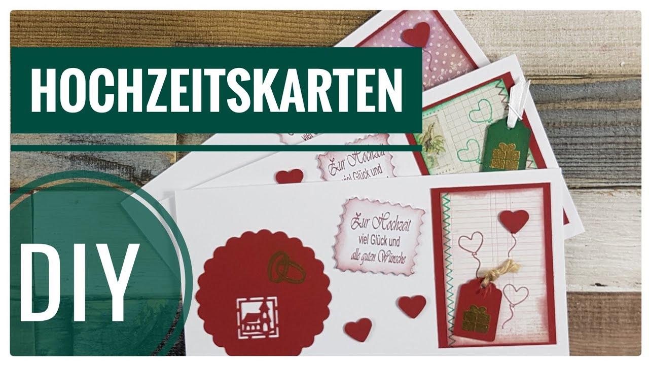 Hochzeitskarten Selber Basteln Kreativ Vlog Tutorial Deutsch