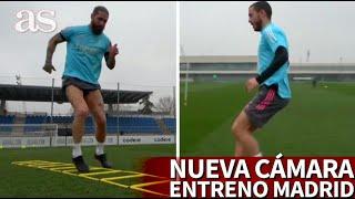 El REAL MADRID estrena cámara 4k en los entrenamientos: se escucha respirar a HAZARD y RAMOS | AS