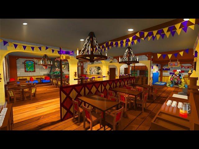 New Dragon's Den Restaurant at LEGOLAND Castle Hotel Hard Hat