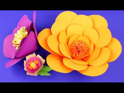 Объемные цветы из бумаги своими руками - мастер-класс