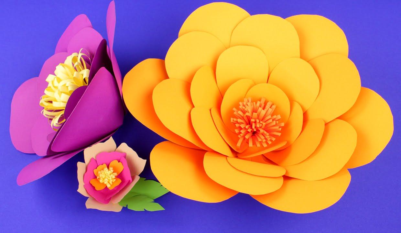 Цветы из цветной бумаги своими руками пошаговая фото 332
