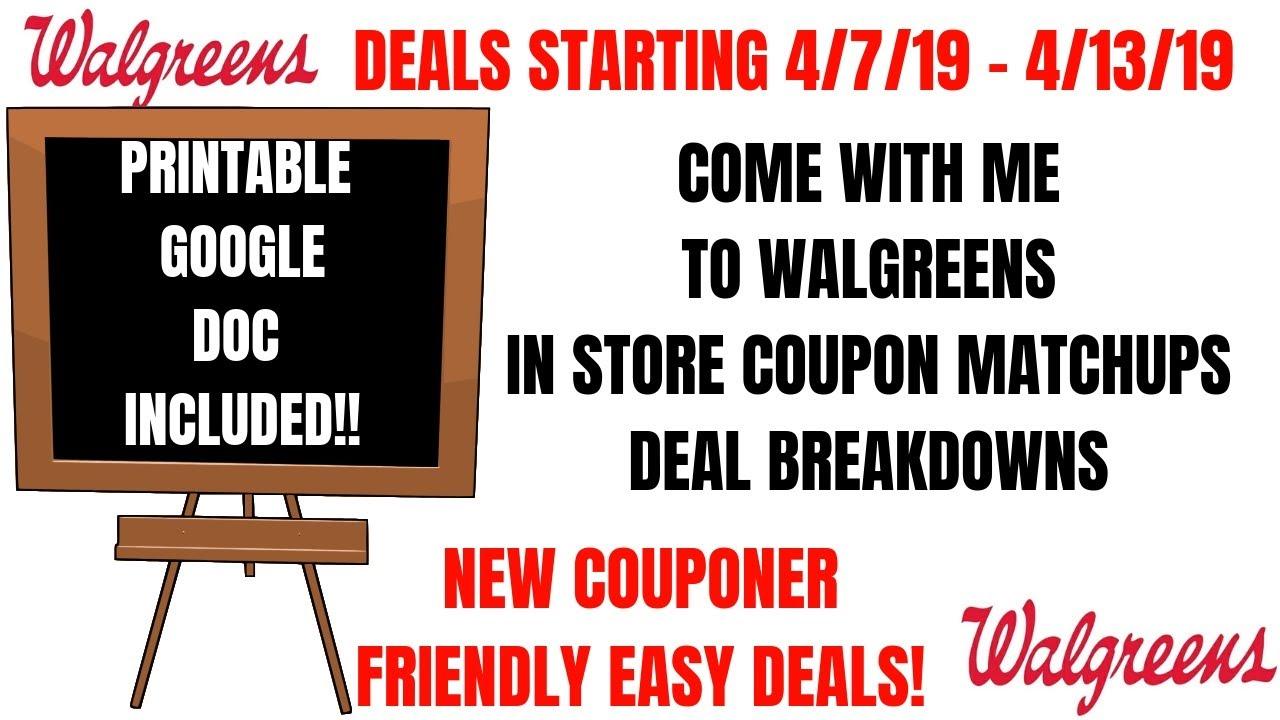 Lots Of Deals Walgreens Deals Starting 4 7 19 Walgreens In Store Walkthrough Coupon Matchups Cheap Youtube