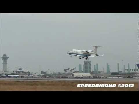 Federal Aviation Administration (FAA) Learjet 60 [N56] LOW FLY BY