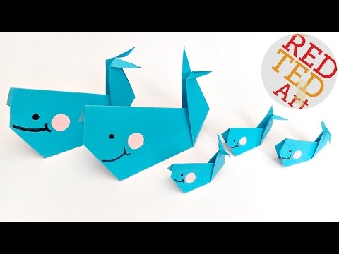 Daily Origami: 119 - Whale - YouTube   360x480