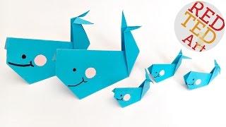 Easy Origami Whale  - Paper Crafts - Finding Dory Paper Whale **BAILEY**