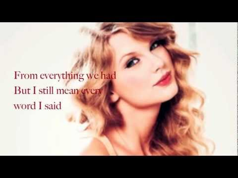 Haunted (Acoustic) - Taylor Swift (Lyrics)