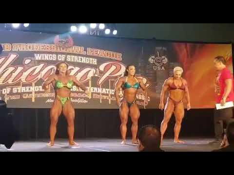 Prejudging Chicago PRO 2019 female bodybuilding