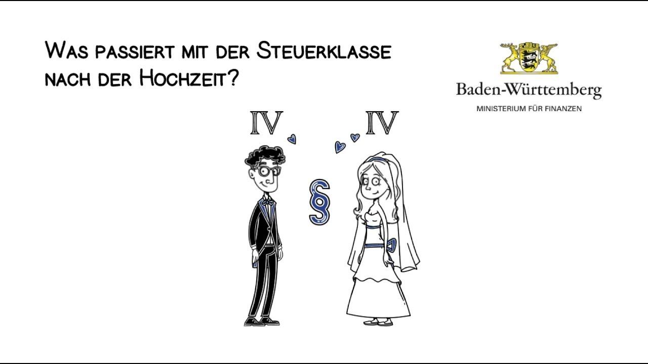 Die Steuerklasse Nach Der Hochzeit Erklart In 2 Minuten Youtube