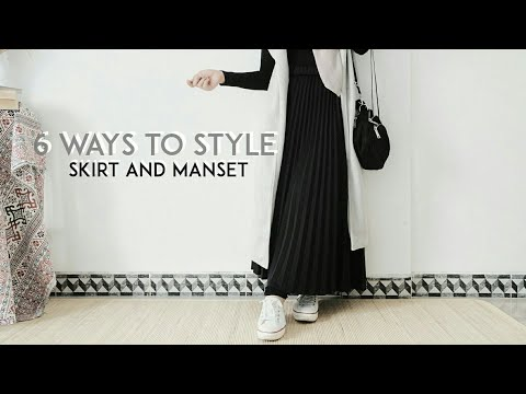How To Style Skirt And Manset | Everyday Hijab Outfit Ideas - YouTube