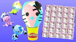 30 HELLO KITTY FRENZIES Play Doh Surprise Egg Full Case Unboxing My Little Pony Cutie Mark Magic