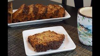 Receta Pastel de Platano marmoleado con Chocolate