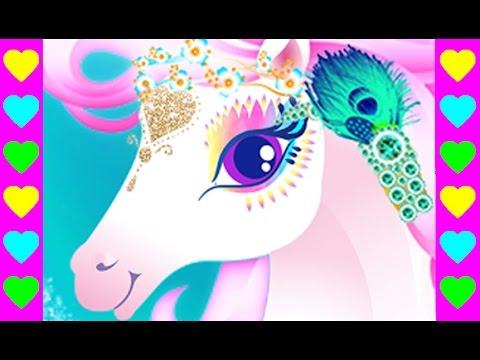 Мультик про пони Снежной Королевы. Ухаживаем за лошадкой. Мультфильмы для детей.