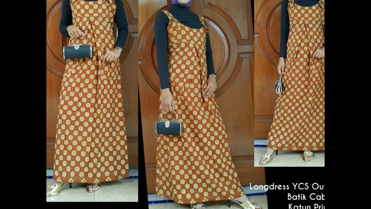 Wa 0812 2533 6662 Gamis Batik Modifikasi Satin Velvet Model Gamis