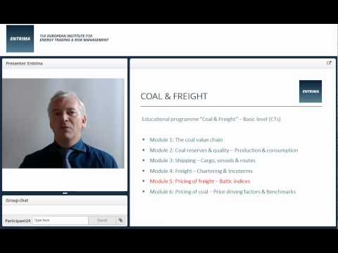 Entrima - Promo - Coal (CT1) - Module 5: Pricing of freight & Baltic indices