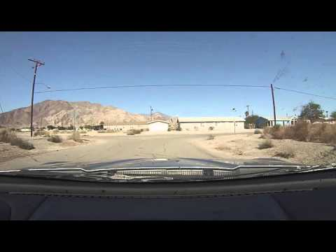 Driving around Desert Shores, California near the Salton Sea