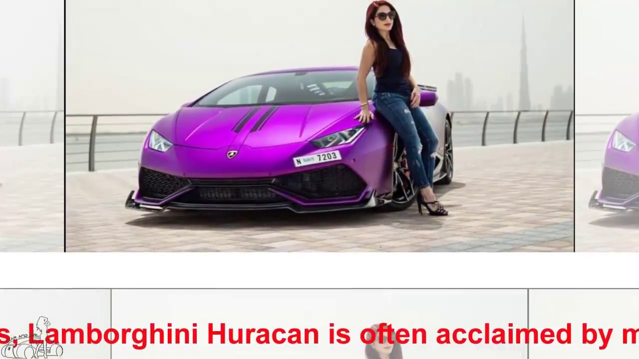 The Lamborghini Huracan Purple Color Of The Dubai Giants Car And