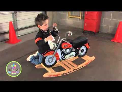 KidKraft HD Harley Davidson Roaring Softail Rocker 10011   YouTube