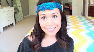 diy t shirt headband   no sew   sailor knot