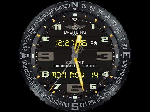 Breitling Cockpit Watch Face Youtube
