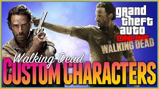 Gta 5 Online - Walking Dead Characters, How To Create Rick Grimes, Character Customization XBOX ONE