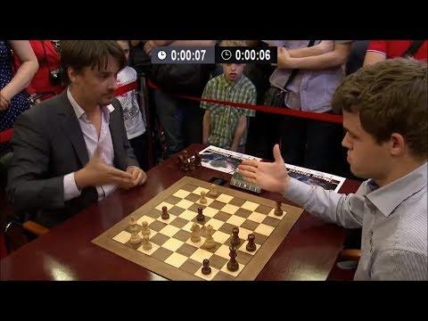 Magnus Carlsen vs Alexander Morozevich - Blitz Chess Ending