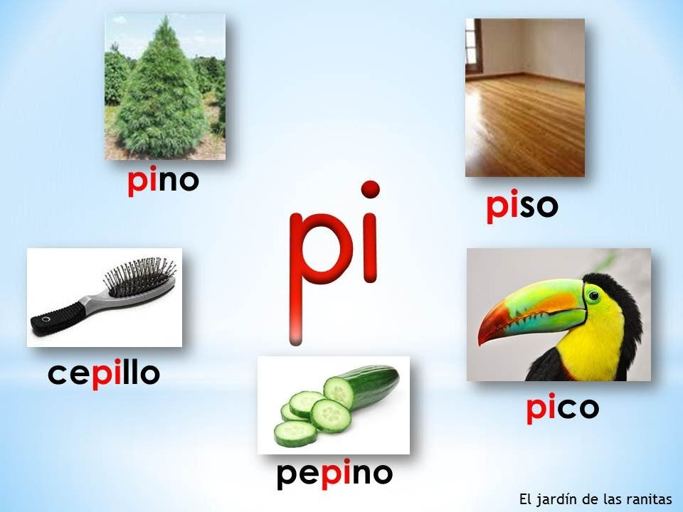 3 Sílabas pa pe pi po pu - Syllables with P - YouTube