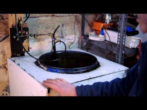 Ozzirt waste oil workshop heater in Ireland.