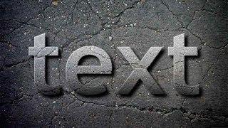 Photoshop Tutorial - Concrete Text Effect