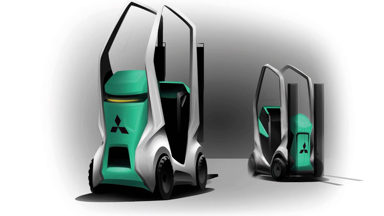 Futuristic Forklift Designs From Mitsubishi Forklift