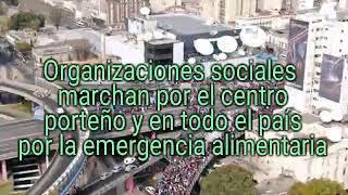 La AVENIDA 9 de Julio COLAPSADA: Caos y DEScontrol por protestas de ORGANIZACIONES sociales