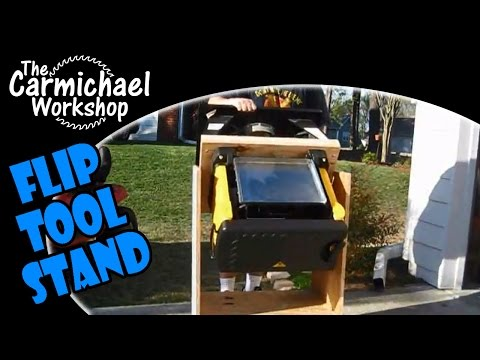 Flip Tool Stand Demo - DIY Space Saving Tip For A Small Woodworking Shop