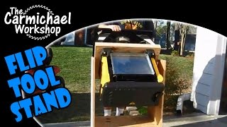Flip Tool Stand - Diy Space Saving Tip For A Small Woodworking Shop