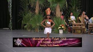 2015 Manahere I Ori Tahiti, Anaya, 5-8 Adv Vahine Finals