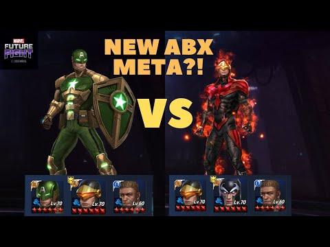 T3 Captain America (Hydra Supreme) VS Cyclops ABX Comparison (Rage CTP+Energy) - Marvel Future Fight