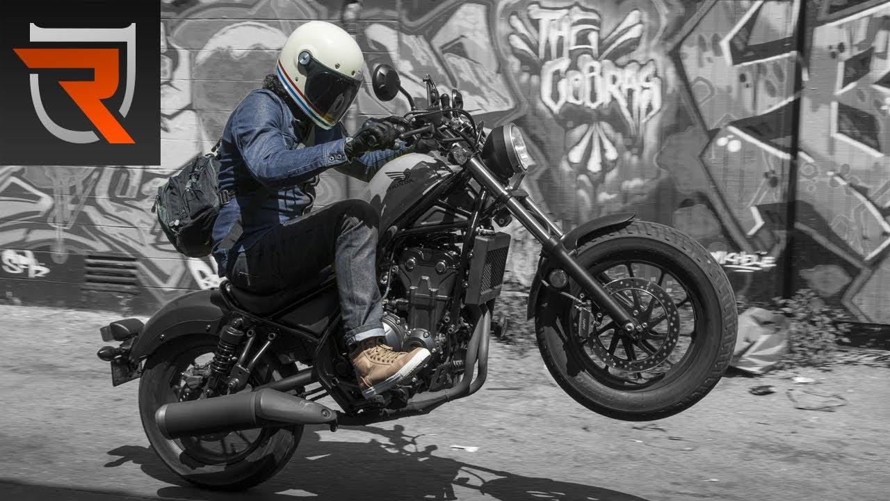 2017 Honda Rebel 500 Second Ride Review Video | Riders Domain - YouTube