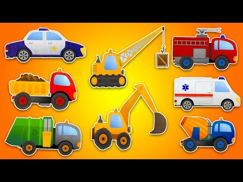 animation-films-for-toddlers-german.-cartoons-german.-police-car.-firefighter.-tractor.