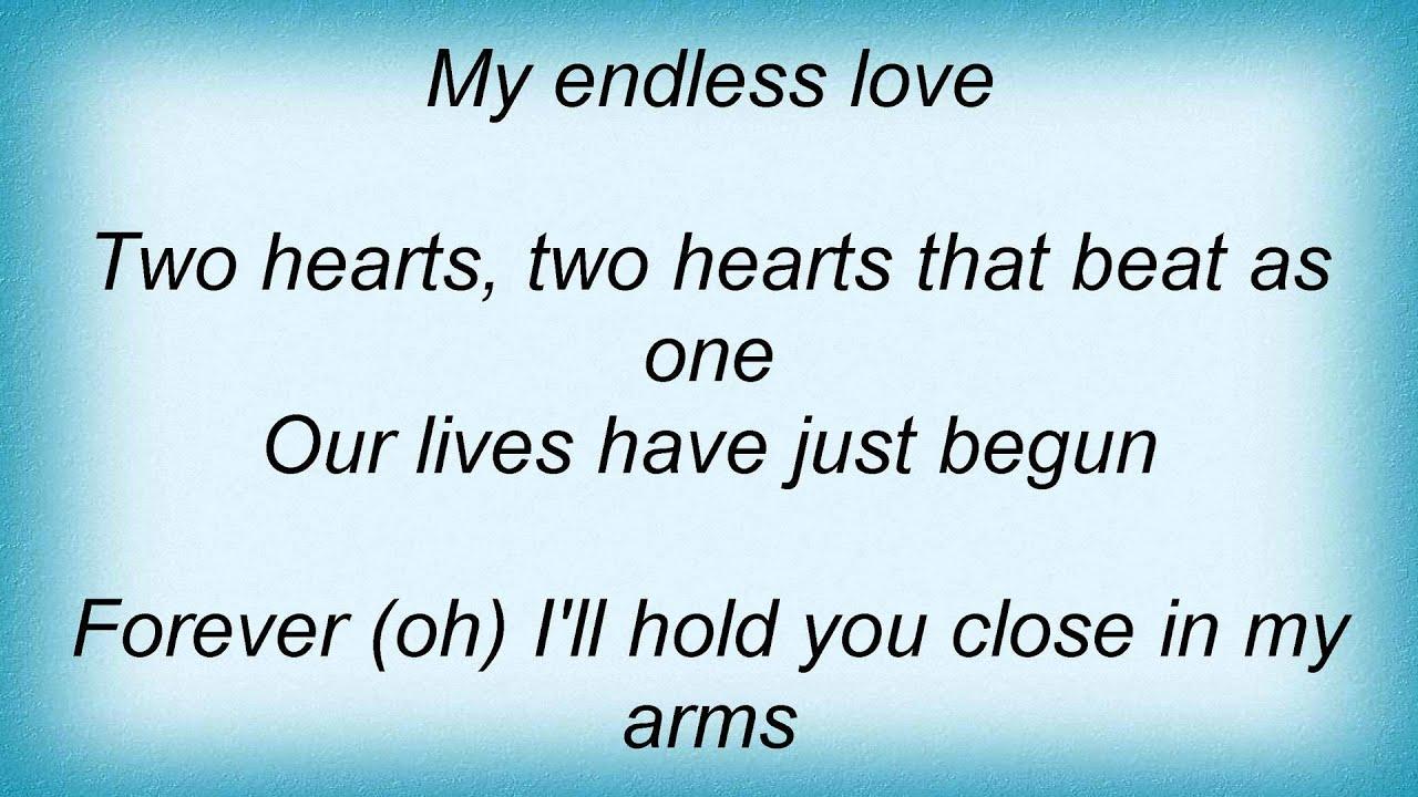 Lionel Richie - Endless Love Lyrics - YouTube
