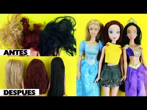 Cómo restaurar, reparar o arreglar el cabello enredado / maltratado de tus muñecas