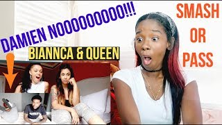 Biannca CRIES Reacting To Damien Smash or Pass!! REACTION IN A REACTION !!! | LACY'S FILES
