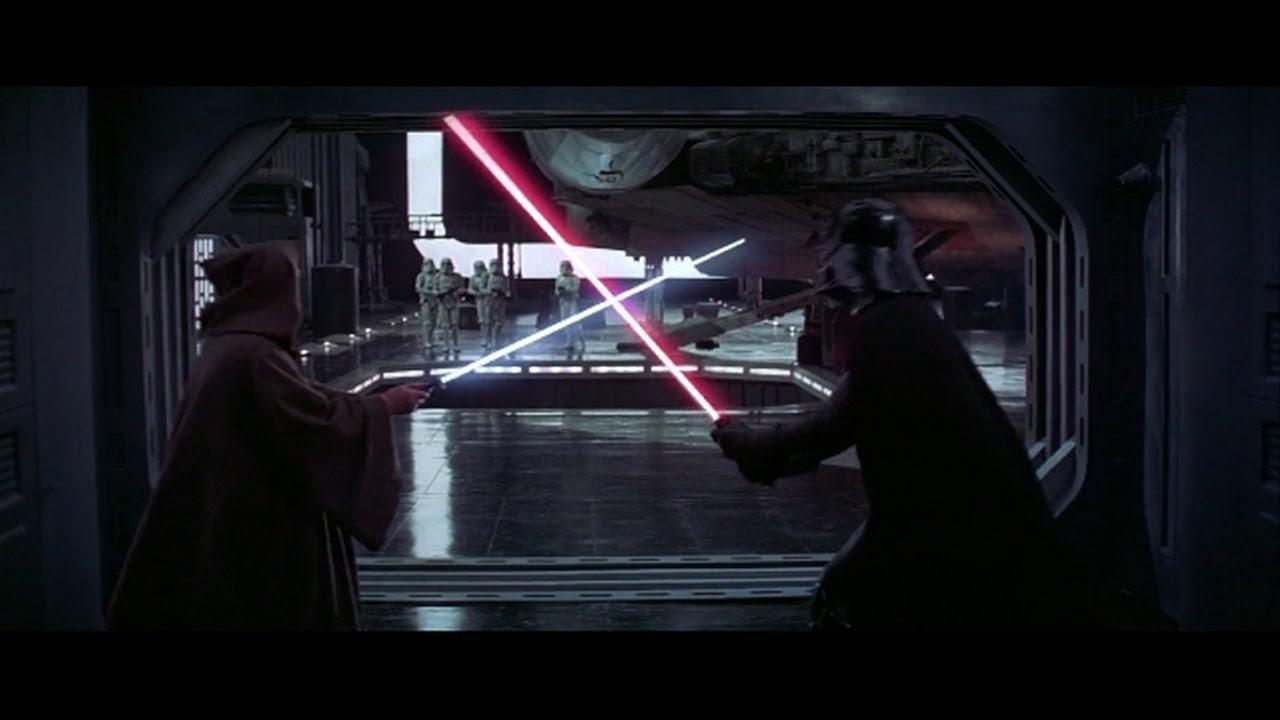 Resultado de imagem para star wars episode 4 obi wan vs darth vader