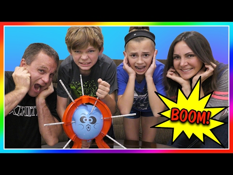 CRAZY BOOM BOOM BALLOON CHALLENGE | FAMILY GAME NIGHT | We Are The Davises