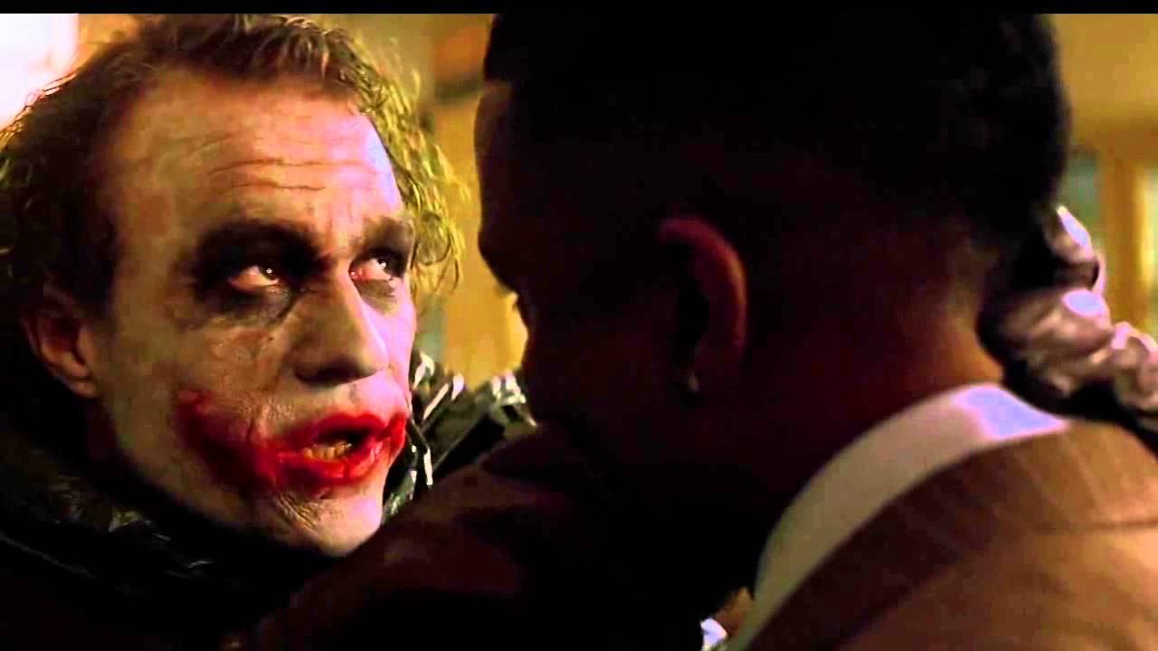 "The Dark Knight: ""Why so serious"" scene HD - YouTube"