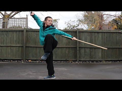 Shaolin Kung Fu Wushu Bo Staff Training Session 5