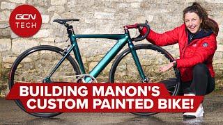 Manon의 맞춤형 페인트 트랙 자전거 제작