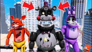 NEW NIGHTMARE LEFTY ANIMATRONIC! (GTA 5 Mods For Kids FNAF RedHatter)
