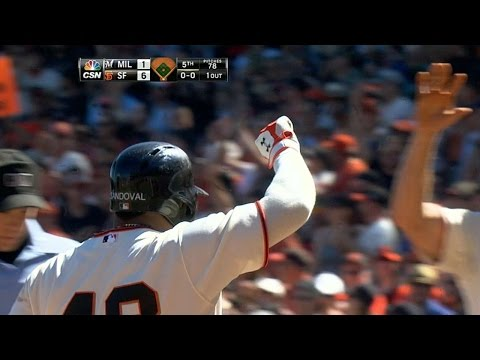 MIL@SF: Panda has big game vs. Brewers
