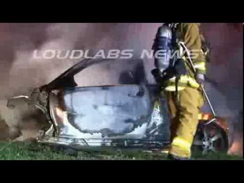 RAW Footage Of Michael Hastings Car Crash Thanks To LAnewsLOUDLABS) (360p)