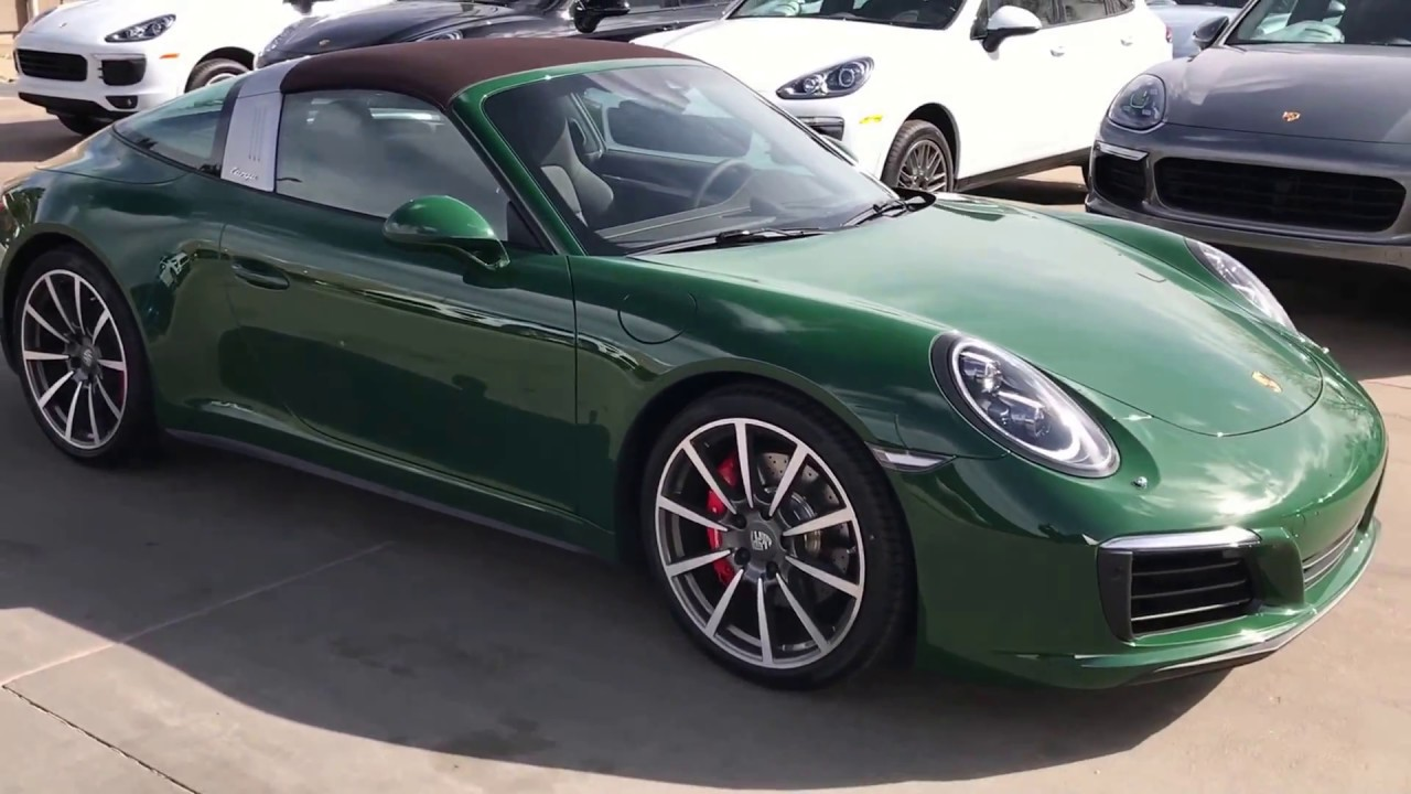 2017 Cpo Porsche 911 Targa 4s Paint To Sample Irish Green
