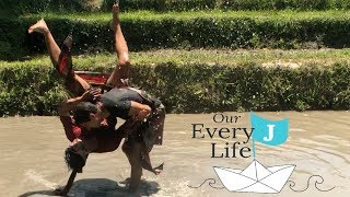 Balinese Mepantigan Martial Arts in the Mud | Full-Time Travelling Family Week 13