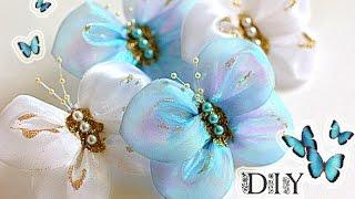Бабочки - Банты Своими Руками | Butterfly | DIY(Очень ценю Ваши ЛАЙКИ и КОММЕНТАРИИ!!! ❤СПАСИБО❤ В этом видео показано как сделать бабочки - банты своими..., 2015-07-30T20:51:36.000Z)